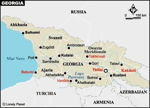Rusia Georgia Cada Vez Más Cerca De La Guerra Panorama - Mapa de georgia